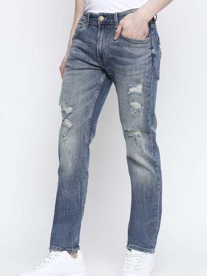 Product Image for Arnold Vintage Blue Slim Ripped Jeans
