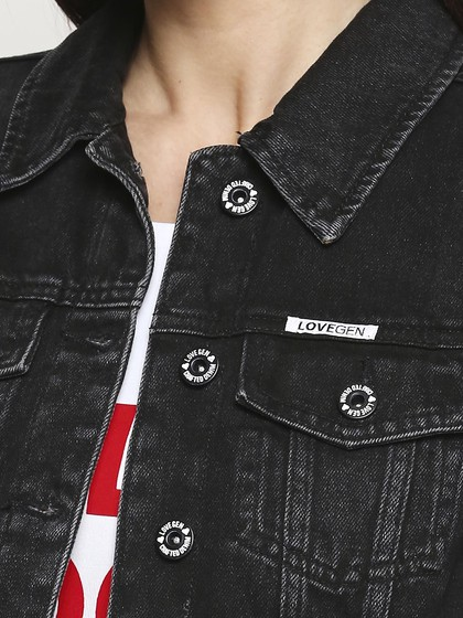 Product Image for Bristol Black Denim Basic Jacket