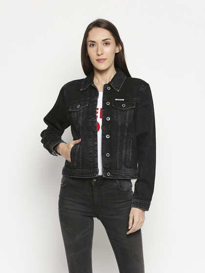 Product Image for Bristol Black Denim Basic Jacket