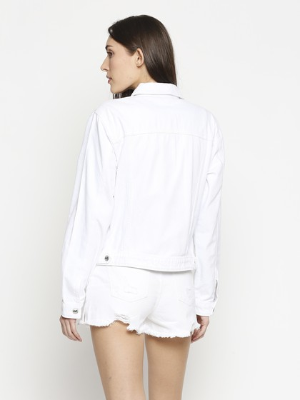 Product Image for Bristol White Denim Basic Jacket