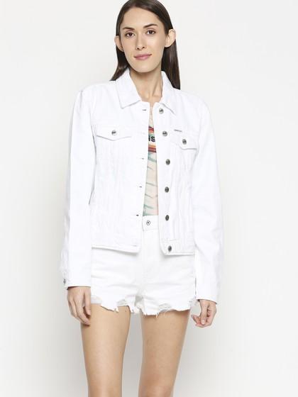 Product Image for Bristol White Denim Basic Jacket