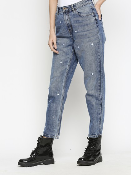 Product Image for Brussels Mid Blue Mom Jeans