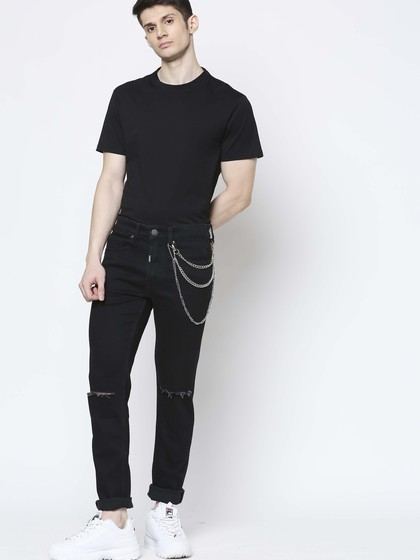 Product Image for Cruz Black Skinny Kneecut Jeans