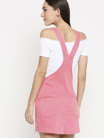 Product Image for Geneva Light Pink Pinny Dungaree