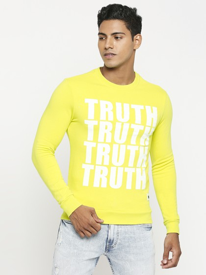 Product Image for Long Sleeve Crew Neck Neon Green Knitted Sweatshirt