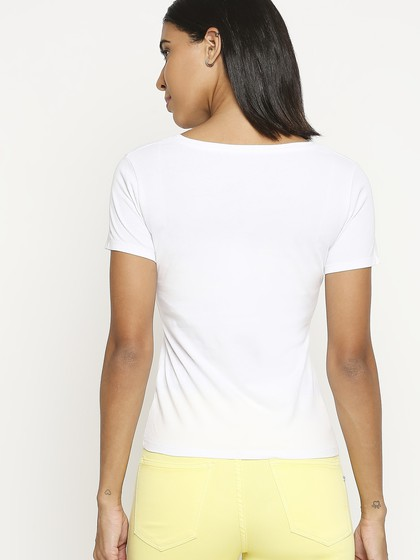 Product Image for White Round Neck Regular Fit T-Shirt