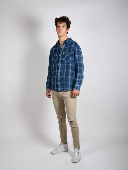 Product Image for Rugaree Dark Blue Flannel Shirt