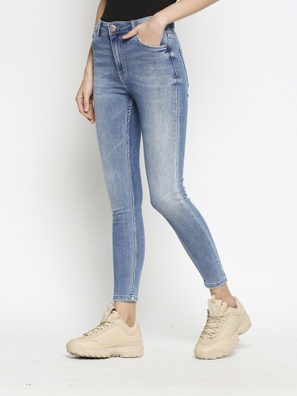 Product Image for Vienna Highwaist Mid Blue  Skinny Jeans