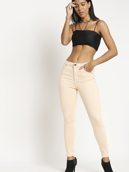 Product Image for Vienna Pale Pink Highwaist Skinny Jeans