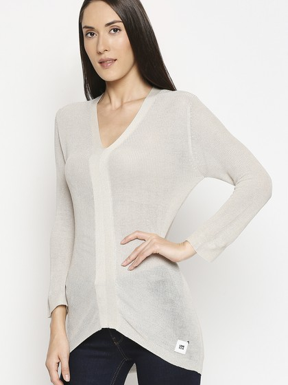 Product Image for V Neck Moon Bean Long Sleeve Knitted T-Shirt