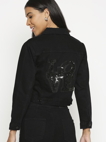 Product Image for Turin Black Basic Jacket With Sequence Patch