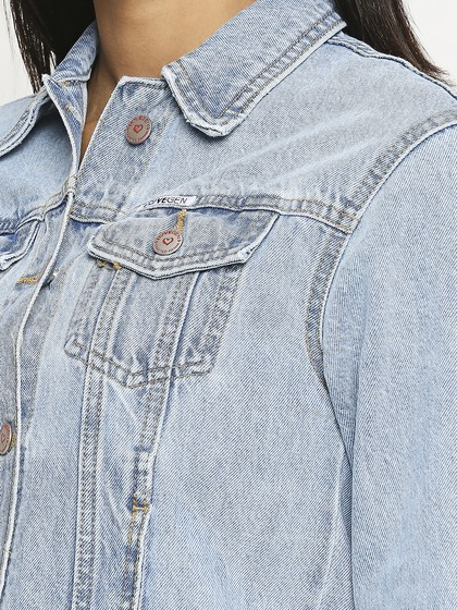 Product Image for Vancuber  Light Blue Printed Jacket