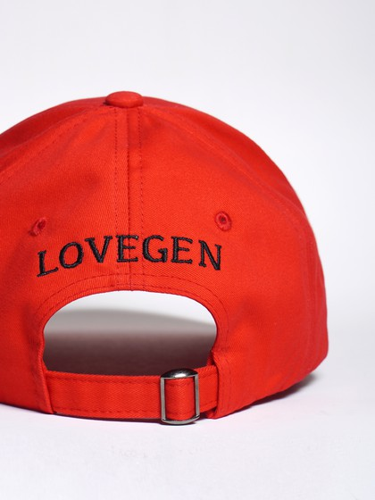 Product Image for LoveGen Unisex Red  Sosa Embroidered Cap With Visor