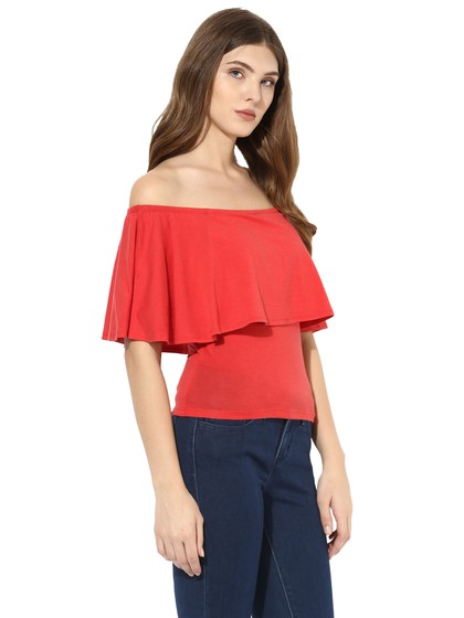 Product Image for Off Shoulder Top With Frill Flap