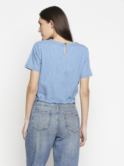Product Image for Denim Blue Crop Top
