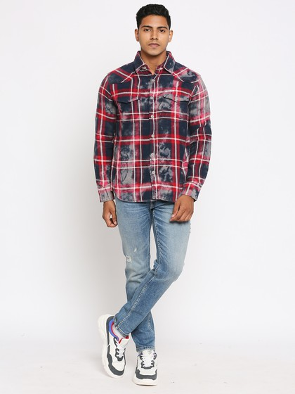 Product Image for Andrew Indigo Check Shirt
