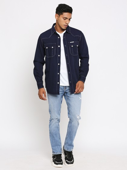 Product Image for Willis Mid Blue Slim Straight Fit Jeans