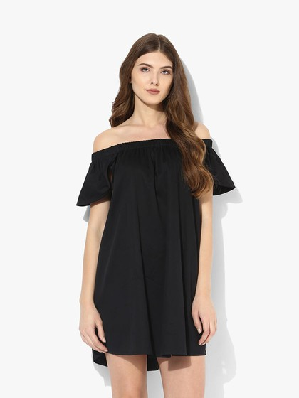 Product Image for Black Off Shoulder Dress With Petal Sleeves