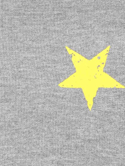 Product Image for Full Sleeve Crop Sweatshirt With Yellow Printed Stars