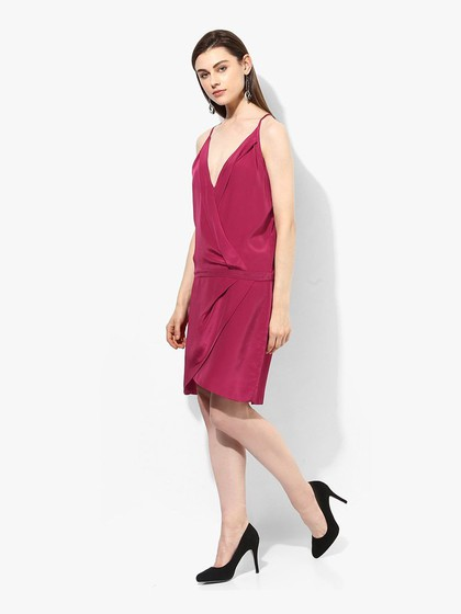 Product Image for Magenta Synthetic Sleeveless Dress