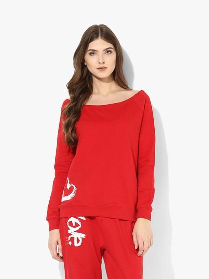 Product Image for Red Fleece Printed Sweatshirt