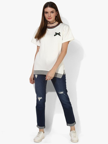 Product Image for Short Sleeve Sweatshirt With Side Zipper