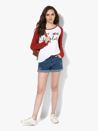 Product Image for White Viscose Jersey Raglan Sleeve Top